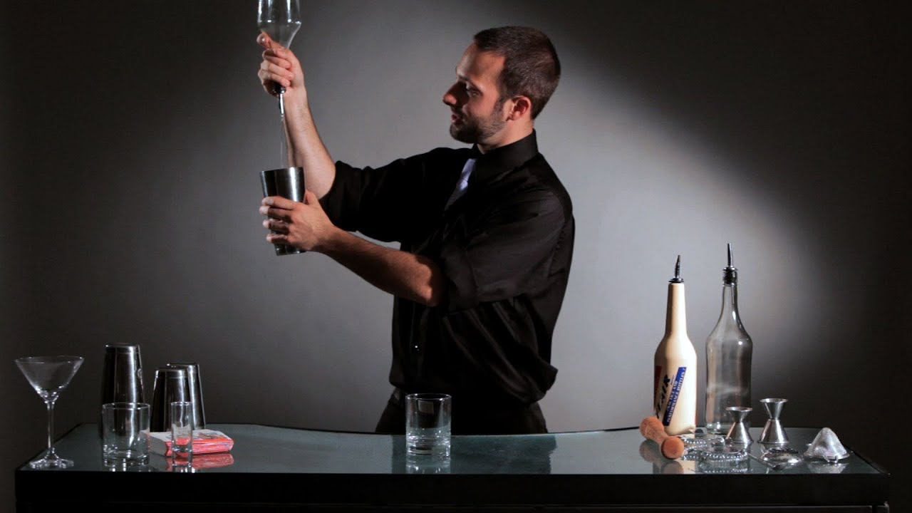 how to do a flip to pour bottle trick flair bartending youtube