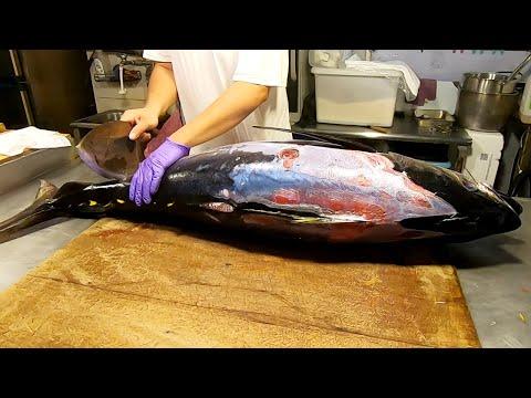 How To Cut A Whole Yellowfin Tuna如何切割整隻的黃鰭鮪魚