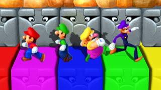Mario Party 10 - Master Difficulty - Mario vs Luigi vs Wario vs Waluigi