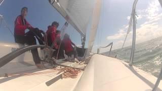 Onboard Arkanoè Aleali, Melges 24 ITA 139, zonale XII zona, trofeo juris, go pro, young sailors