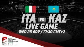 Italy - Kazakhstan | Live | 2018 IIHF Ice Hockey World Championship Division I Group A