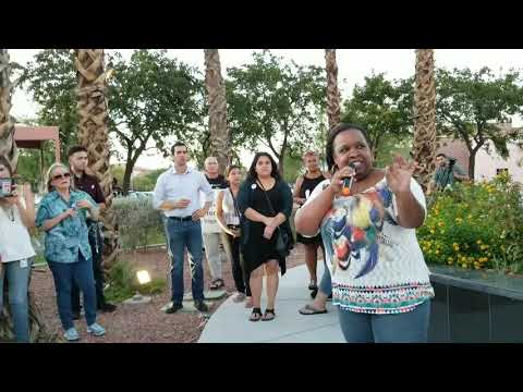 Spoken Word Artists Address #StandWithCharlottesville Solidarity Vigil in North Las Vegas