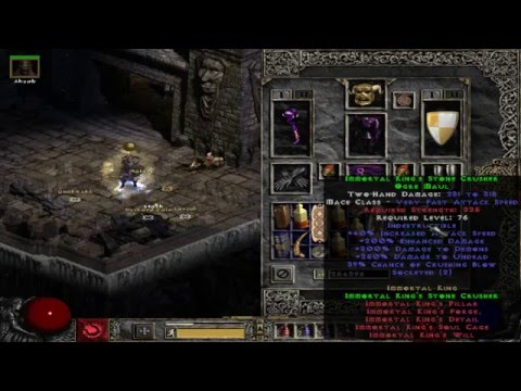 What Is Immortal King'S Stone Crusher - Diablo 2 Items - YT