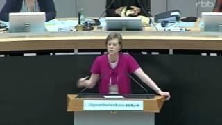 47. Sitzung des Berliner Abgeordnetenhauses - Kirchensteuer - Cornella Seibeld (CDU)