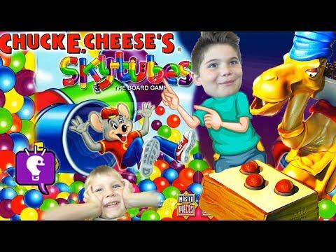 Spitting Camel + Chuck E Cheese SkyTubes Games! HobbyFamily Fun Game Time with HobbyKidsTV