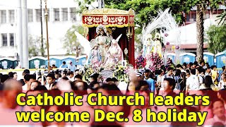 Catholic Church leaders welcome Dec. 8 holiday