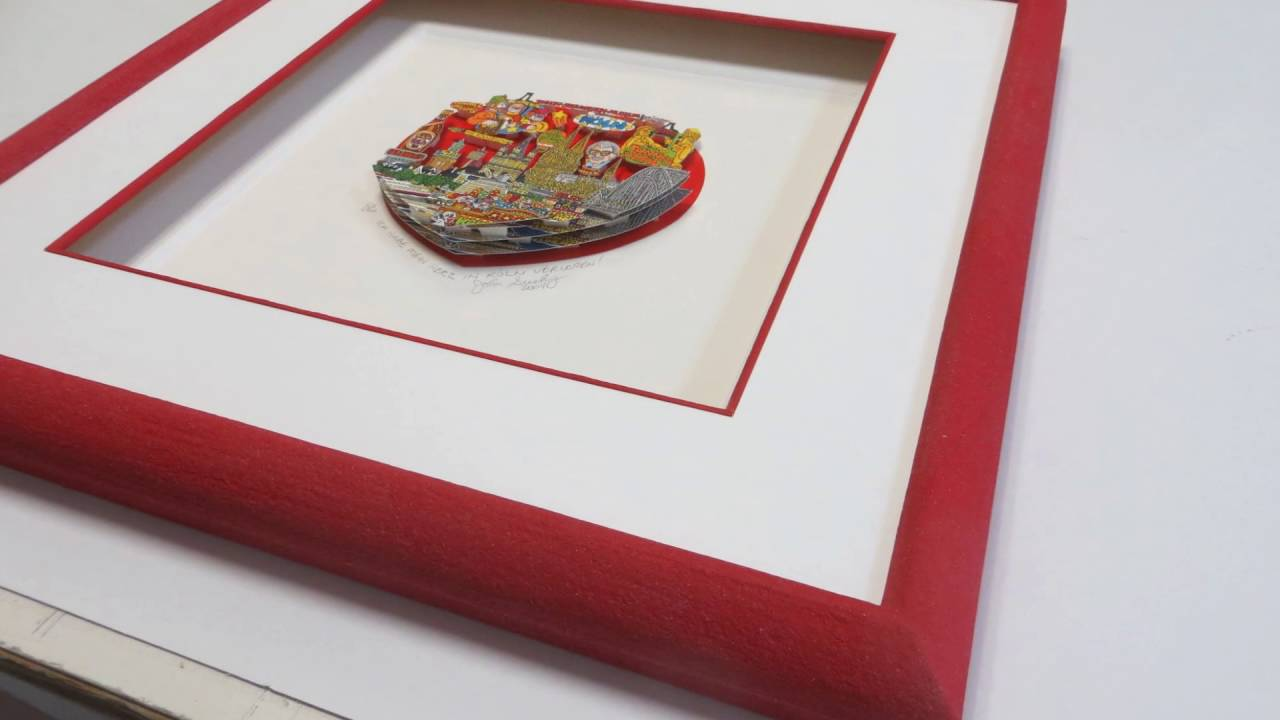 How to frame 3_D- POP ART Fazzino,Suchy, James Rizzi Objektrahmen ...
