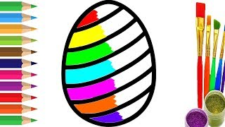 Learn colors with Surprise Eggs Coloring Pages and Paints | Colors for children Video for kids