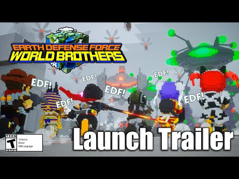 EARTH DEFENSE FORCE: WORLD BROTHERS - Launch Trailer