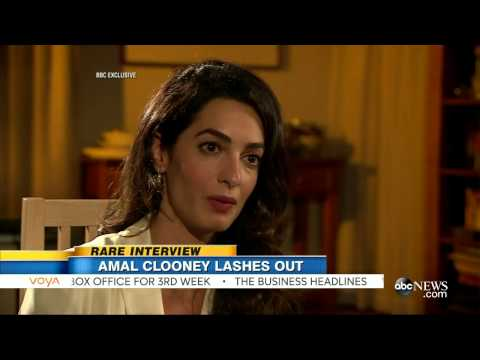 Amal Clooney Interview | Defending Three Journalists | GMA