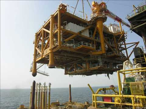 Oil platform deck instalation QG3&4 WHP7