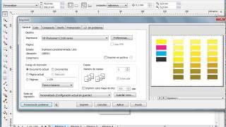 Corel Draw, Pantonera y Como imprimir la pantonera mediante imposición de pagina