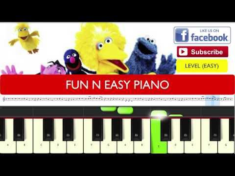 SESAME STREET THEME SONG PIANO TUTORIAL EASY LEVEL BEGINNER
