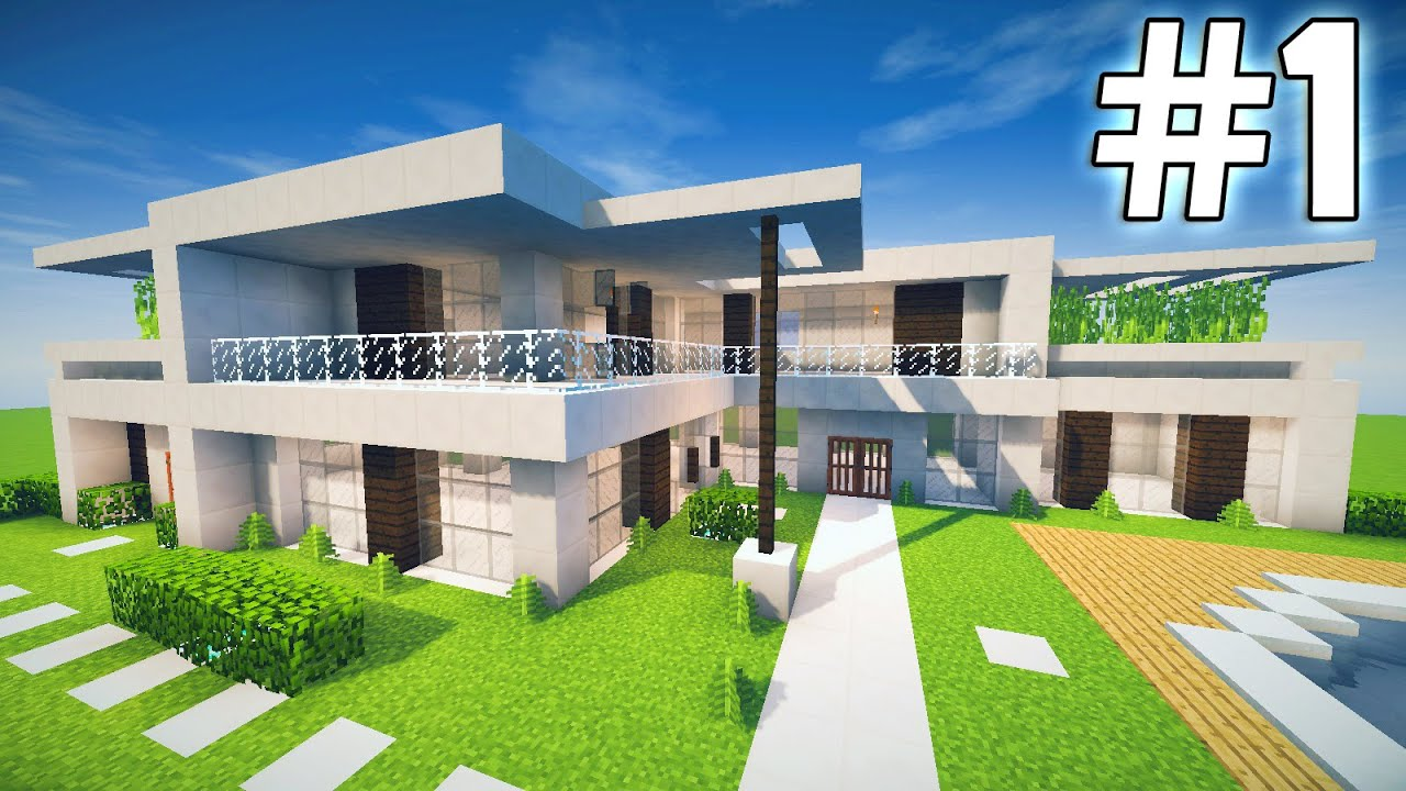 Minecraft casa moderna tutorial youtube for Casas modernas minecraft keralis