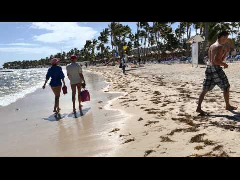 Palm Beach Punta Cana beach walk 4K movie