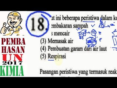 Un Sma 2017 Kimia  , No 18, Reaksi Eksoterm