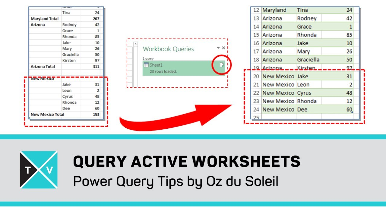 Worksheets Active Worksheet Vba query active worksheet excel power tips youtube