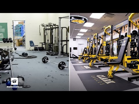 high-school-gym-gets-extreme-makeover-|-michele-clark-high-school