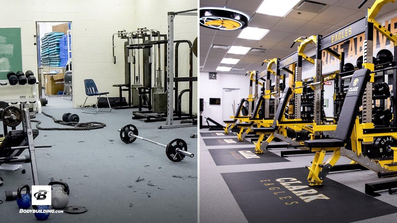 High school gym gets extreme makeover michele clark high school