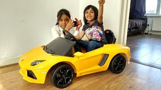 Lamborghini Aventador Ride On Car Surprise Unboxing and Playtime | Power Wheels Fun