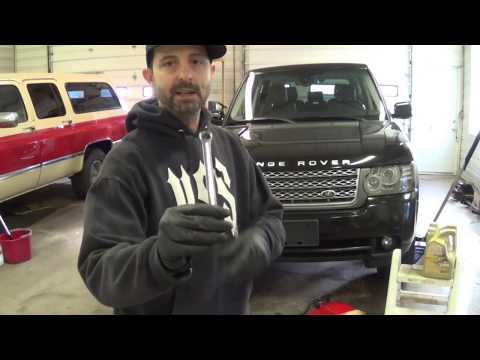 Land Rover Range Rover HSE Oil Change - Do It Yourself! CHEAP! Save $$