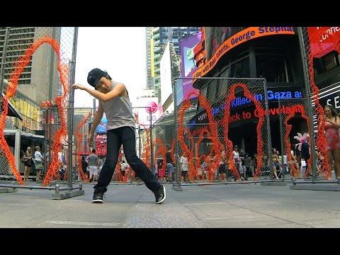 MAKE IT BUN DEM | DUBSTEP | KJ @ Times Square New York NYC (Inspired by WHZGUD2 Marquese Scott)