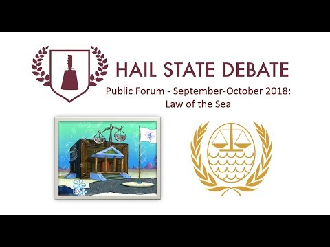 Public Forum Sept-Oct 2018 - Law Of The Sea