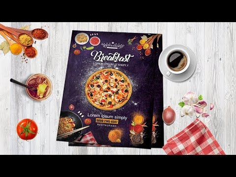 How to Design Pizza Restaurant Flyer - Poster in Photoshop -