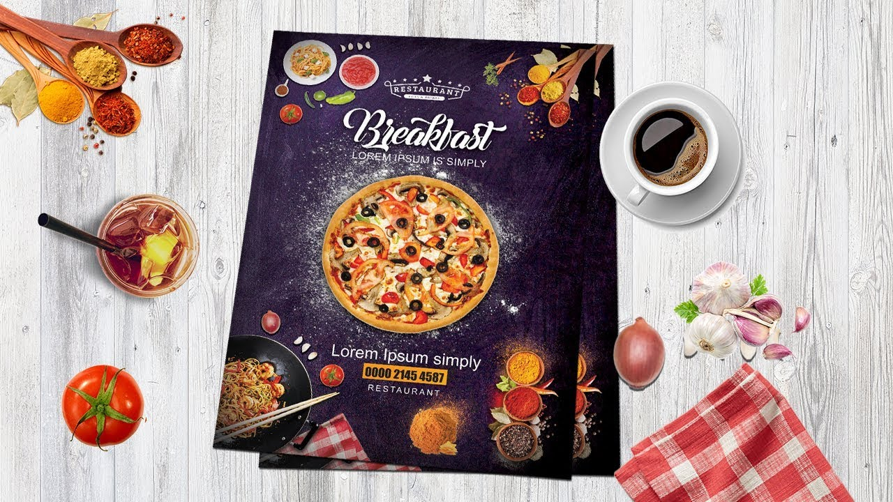 Poster Cuisine How To Design Pizza Restaurant Flyer Poster In Photoshop