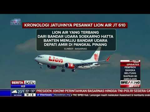 Kronologi Jatuhnya Pesawat Lion Air JT-610