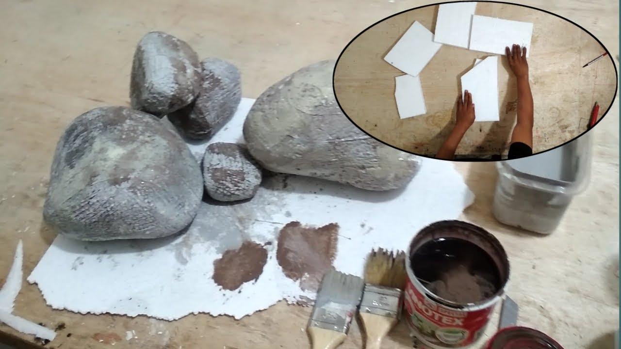 Cara Membuat Batu Batuan Dari Styrofoam Lembaran Grz M Youtube
