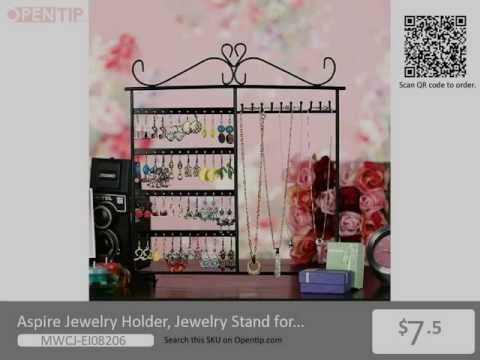 Aspire Jewelry Holder For Earrings / Necklaces / Bracelets From Opentip.com