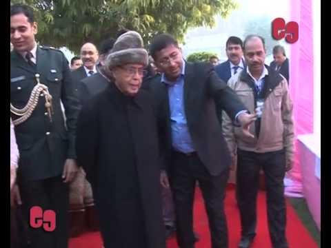 President Visits Model Polling Station