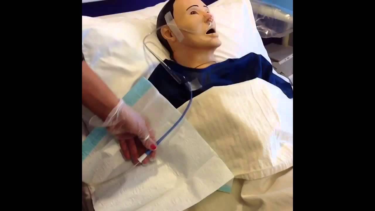 Nursing care of nasogastric tube - YouTube