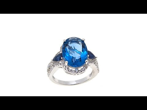 Colleen Lopez 6.79ctw ColorChange Fluorite   Gem Ring