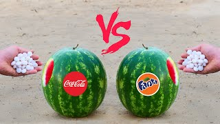 Experiment: Watermelon with Cola vs Watermelon with Fanta