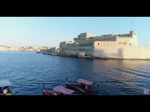 Crossing the Grand Harbour Valletta with a boat on a wedding day