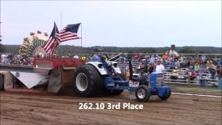 NWPA Pullers Single Engine Modified Tractors Jamestown Fair 9-11-15