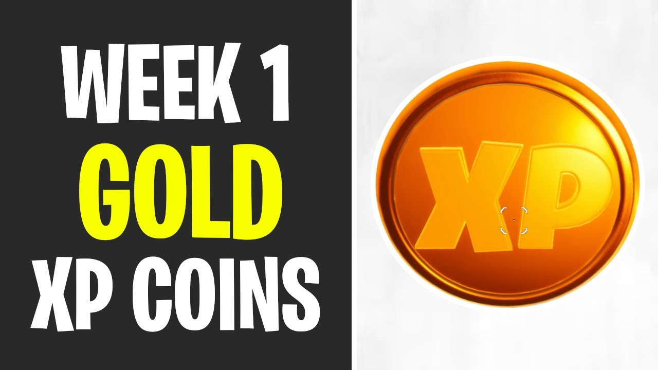 All Gold Xp Coins Locations Week 1 Fortnite Youtube