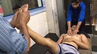 ASMR Threesome Full Body Massage By (Khursheed Alam) and (Mohammad Javed)   Part-1