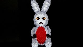 3D origami Easter Bunny tutorial part1