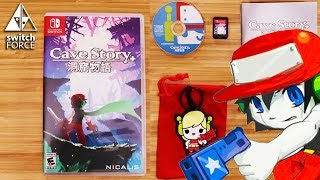 Cave Story Switch Unboxing - LIMITED EDITION - Manual, Mini-CD, Cartridge, More!
