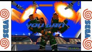 Cyber Troopers Virtual-On Oratorio Tangram - SEGA Dreamcast Gameplay Sample HD - Redream Emulator