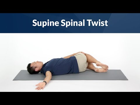Supine Spinal Twist for Spine Mobility