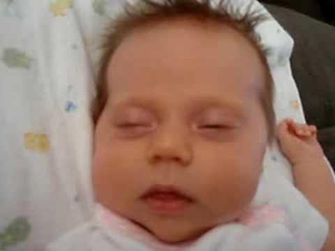 newborn eyes rolling back in head