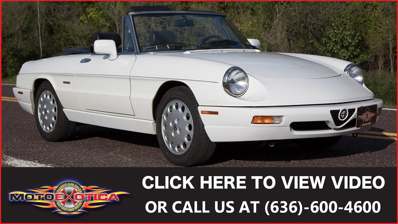 Alfa Romeo Spider Veloce For Sale YouTube - 1993 alfa romeo spider for sale