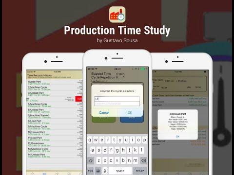 Production Time Study App