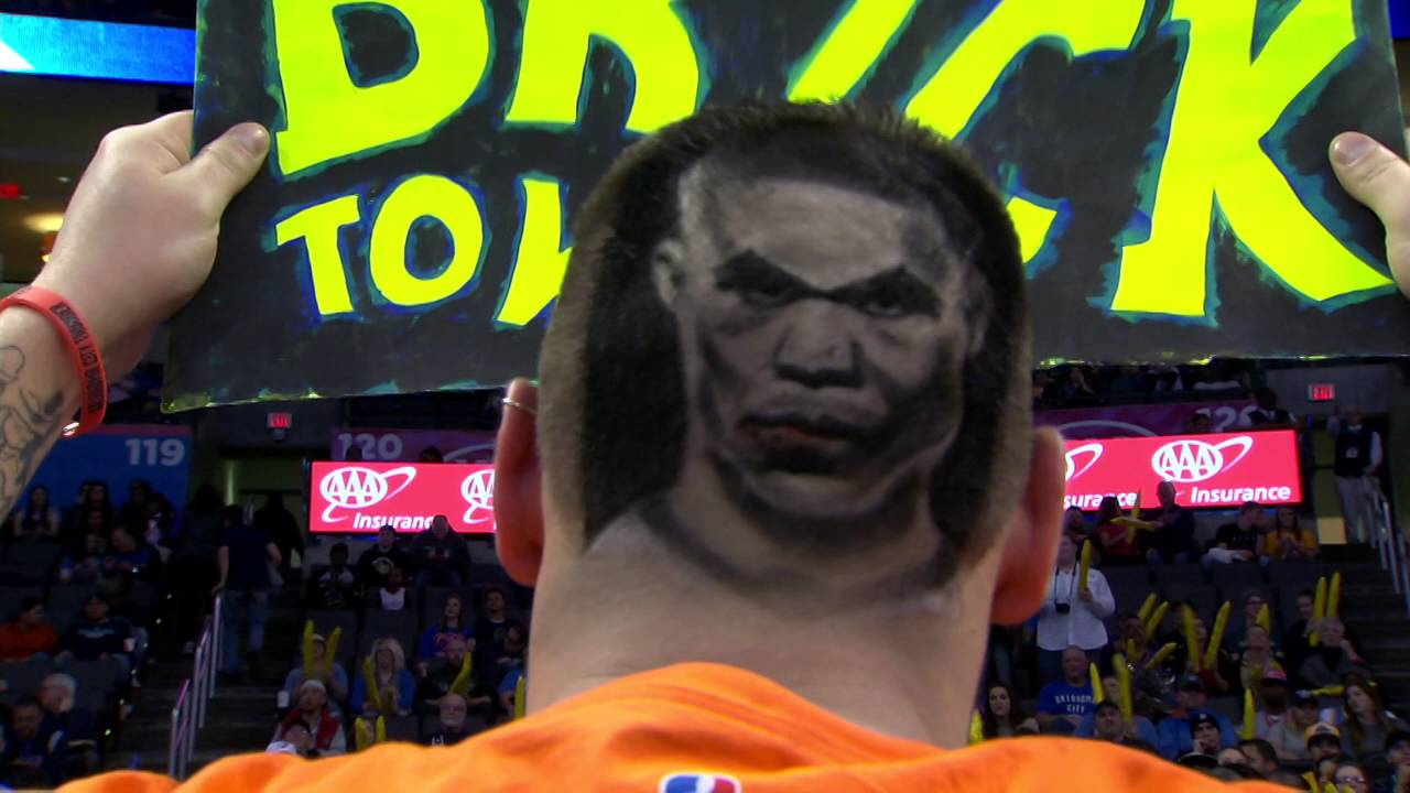Thunder Fans Awesome Westbrook Haircut Youtube