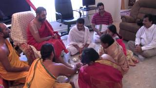Sri Sri Chinna Jeeyar Swami Visit to Champaign Urbana - Paada Pooja @ Mudumba Home - 10th April 2015