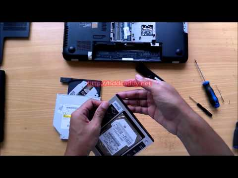 HP Pavilion 15 - Install 2nd HDD Caddy Remove Optical Drive